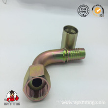 Name: 90° Metric Female Flat Seal Crimp Fitting (20291, 20291T)
